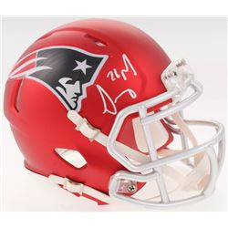 Sony Michel Signed New England Patriots Blaze Speed Mini-Helmet (Beckett COA)