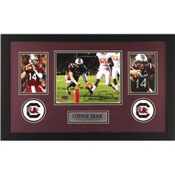 "Connor Shaw Signed South Carolina Gamecocks 16x26 Custom Framed Photo Display Inscribed ""7,766 YDS"""