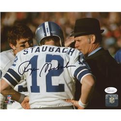 Roger Staubach Signed Dallas Cowboys 8x10 Photo (JSA COA)