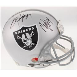 Marshawn Lynch  Bo Jackson Signed Oakland Raiders Full-Size Authentic On-Field Helmet (Radtke COA  J