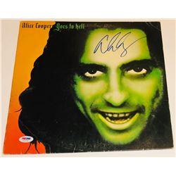 "Alice Cooper Signed ""Goes To Hell"" Vinyl Album Cover (PSA COA)"