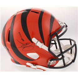 "Chad Johnson Signed Cincinnati Bengals Full-Size Speed Helmet Inscribed ""Ocho Cinco"" (JSA COA)"