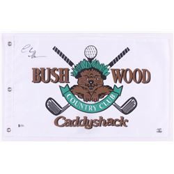 "Chevy Chase Signed ""Caddyshack"" Bushwood Country Club Golf Pin Flag (Beckett COA  Chase Hologram)"