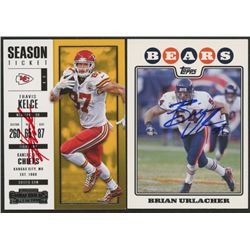 Lot of (2) Signed Football Cards with (1) Brian Urlacher Signed 2008 Topps #235  (1) Travis Kelce Si