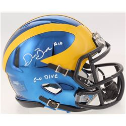 "Devin Bush Jr. Signed Michigan Wolverines Chrome Mini Speed Helmet Inscribed ""Go Blue"" (Radtke COA)"