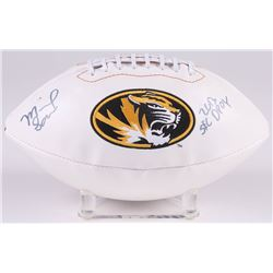 "Michael Sam Signed Missouri Tigers Logo Football Inscribed ""2013 SEC DPOY"" (Radtke COA)"