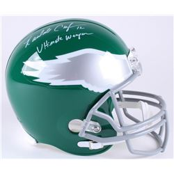 "Randall Cunningham Signed Philadelphia Eagles Full-Size Helmet Inscribed ""Ultimate Weapon"" (JSA COA)"