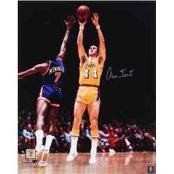 Jerry West Signed Los Angeles Lakers 16x20 Photo (PSA COA)