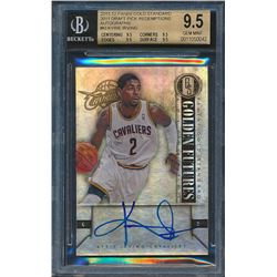 2011-12 Panini Gold Standard 2011 Draft Pick Redemptions Autographs #KI Kyrie Irving RC (BGS 9.5)