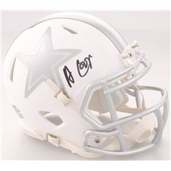 Amari Cooper Signed Dallas Cowboys White ICE Speed Mini-Helmet  (JSA COA)