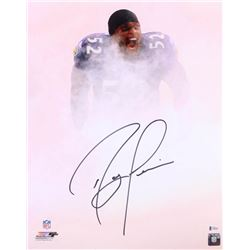 Ray Lewis Signed Baltimore Ravens 16x20 Photo (Beckett COA)