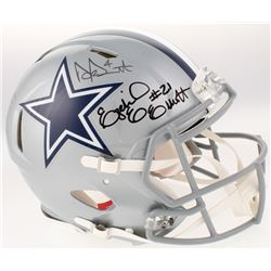 Dak Prescott, Amari Cooper  Ezekiel Elliot Signed Dallas Cowboys Full-Size Authentic On-Field Speed