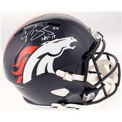 "Champ Bailey Signed Denver Broncos Full-Size Helmet Inscribed ""HOF 19"" (JSA COA)"