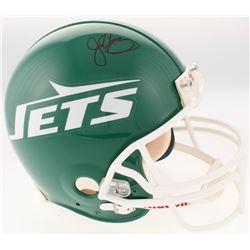 John Riggins Signed New York Jets Full-Size Authentic On-Field Throwback Helmet (Steiner COA)