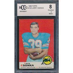 1969 Topps #120 Larry Csonka RC (BCCG 8)