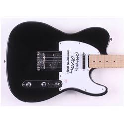 """Henry Diltz Signed 39"""" Electric Guitar Inscribed """"Morrison Hotel"""" (PSA Hologram)"""