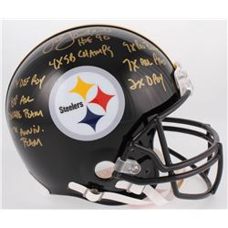 Jack Lambert Signed Pittsburgh Steelers Full-Size Authentic On-Field Helmet with Multiple Inscriptio