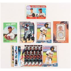 Lot of (15) Ozzie Albies with 2015 Topps Pro Debut #145, 2018 Topps Archives Silver #18, 2015 Bowman