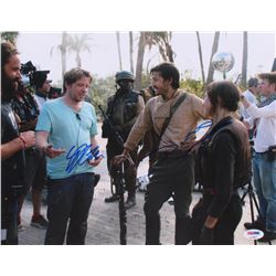 "Diego Luna  Gareth Edwards Signed ""Rogue One: A Star Wars Story"" 11x14 Photo (PSA COA)"
