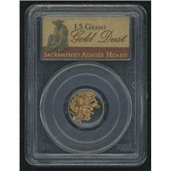 Gold Dust 1.5 Grams Sacramento Assayer Hoard (PCGS Genuine)