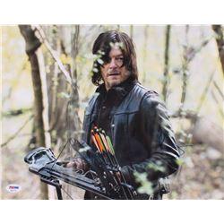 "Norman Reedus Signed ""The Walking Dead"" 11x14 Photo (PSA COA)"