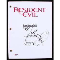 "Milla Jovovich Signed ""Resident Evil"" Movie Script (PSA COA)"