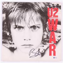 """Bono Signed U2 """"War"""" Vinyl Record Album Cover (Beckett COA)"""