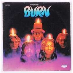 "David Coverdale Signed Deep Purple ""Burn"" Vinyl Record Album Cover (PSA COA)"