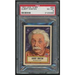 1952 Look 'n See #20 Albert Einstein (PSA 6)