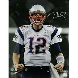 Tom Brady Signed New England Patriots 16x20 Metallic Photo (TriStar Hologram)