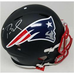 Tom Brady Signed New England Patriots Full-Size Authentic On-Field Black Matte Speed Helmet (TriStar