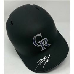 Nolan Arenado Signed Colorado Rockies Matte Black Full-Size Batting Helmet (Fanatics Hologram  MLB H