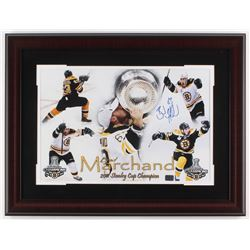 Brad Marchand Signed Bruins 19x25 Custom Framed Photo Display (Marchand Hologram)