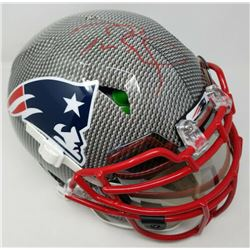 Tom Brady Signed New England Patriots Limited Edition Custom Hydro Dipped Full-Size Authentic On-Fie