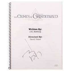 "Johnny Depp Signed ""Fantastic Beasts: The Crimes of Grindelwald"" Movie Script (JSA Hologram)"