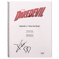 "Charlie Cox Signed ""Daredevil: Into the Ring"" Episode Script Inscribed ""DD"" (PSA Hologram)"