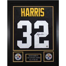 Franco Harris Signed 24x30 Custom Framed Jersey (JSA COA  Harris Hologram)