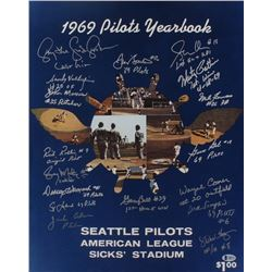 1969 Inaugural Seattle Pilots 16x20 Photo Team-Signed by (18) with Jack Aker, Gary Bell, Wayne Comer