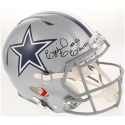Ezekiel Elliott Signed Dallas Cowboys Full-Size Authentic On-Field Speed Helmet (Beckett  Radtke COA