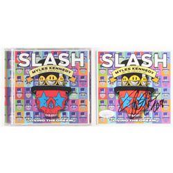 "Slash Signed ""Living the Dream"" CD Album Sleeve Inscribed ""2018"" (JSA COA)"