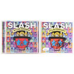 """Slash Signed """"Living the Dream"""" CD Album Sleeve Inscribed """"2018"""" (JSA Hologram)"""