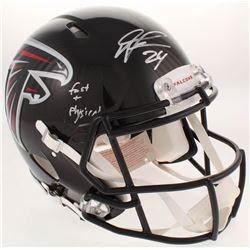 "Devonta Freeman Signed Atlanta Falcons Full-Size Authentic On-Field Speed Helmet Inscribed ""Fast  Ph"