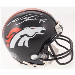 Neil Smith Signed Denver Broncos Mini Helmet (JSA COA)