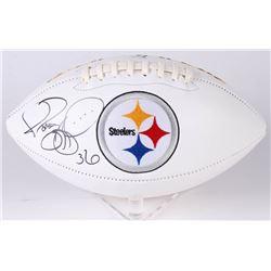 Jerome Bettis Signed Pittsburgh Steelers Logo Football (Beckett COA)