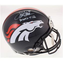 "Terrell Davis Signed Denver Broncos Full-Size Authentic On-Field Helmet Inscribed ""Bronco 4 Life"" (R"