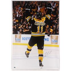 Gregory Campbell Signed Boston Bruins 30x44 Giclee on Canvas (Campbell COA)