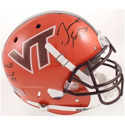 Terrell Edmunds  Tremaine Edmunds Signed Virginia Tech Hokies Full-Size Authentic On-Field Helmet (R