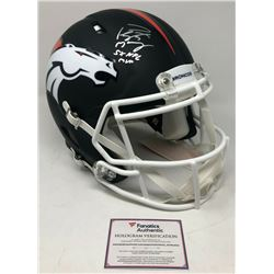 Peyton Manning Signed Denver Broncos Limited Edition Custom Matte Black Full-Size Authentic On-Field