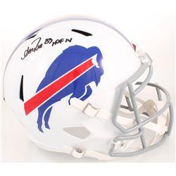 "Andre Reed Signed Buffalo Bills Full-Size Speed Helmet Inscribed ""HOF '14"" (Radtke COA)"