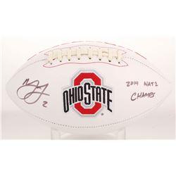"Marshon Lattimore Signed Ohio State Buckeyes Logo Football Inscribed ""2014 Nat'l Champs"" (Radtke COA"
